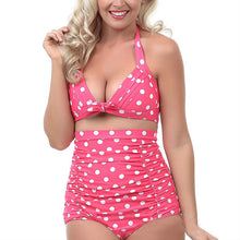 Women's High Waist Push Up Bathing Suits Sexy  Printed Dot Swimsuit Plus Size