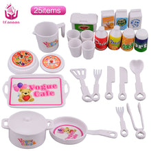 Baby 25 Pieces Plastic Dinner Set - Barbie Doll Educational Classic Soft Toys - Unisex