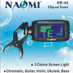 N-A-O-M-I Tuner NM-86 Acoustic Guitar Tuner 3-In-1 Tuner W/Blue LCD Backlight For Guitar /Bass /Ukulele NEW