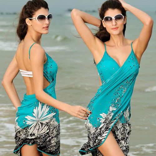 Women's Beach Dress Sexy Bikini Wrap,  Sarong cover-ups, Pareo skirts Open-Back swimwear, negril