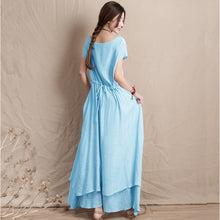Women's Summer Vintage Maxi Casual Party Long Dress Elegant Sundress Vestidos Mujer de Festa