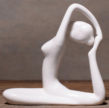 Abstract Art Ceramic Yoga Pose Figurine Porcelain Lady Statue - Different Poses Home Yoga Studio Decor Ornament