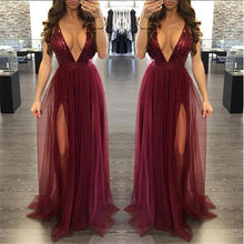 Women's Autumn Winter Party Maxi Sling Evening Deep V-neck Backless Sequin Patchwork Sexy Elegant Strap Dresses Vestidos