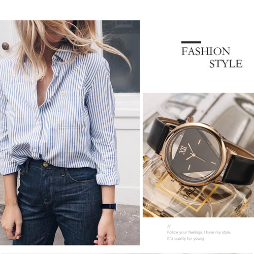 Women's Casual Unique Design Quartz Analog Hollow Style Wristwatch
