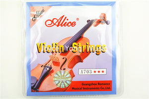 1 set Violin Strings 4 pieces E A D G for 1/8 1/4 1/2 3/4 4/4 Common Size - Alice A703