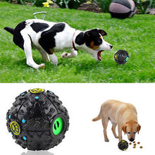 Pet's Dog Treat Trainning Chew Sound Food Dispenser Toy Squeaky Giggle Ball