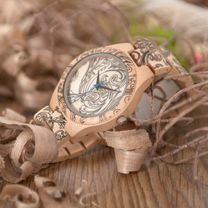 Men's Luxury Handmade Wood Quartz Wooden Wristwatch