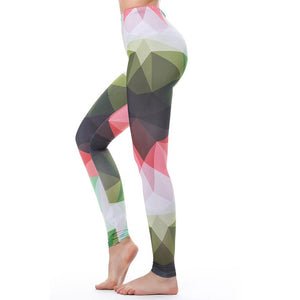 Women's Sexy Fashion Slim High Waist Fitness Push Up Camouflage Colorful Leggings