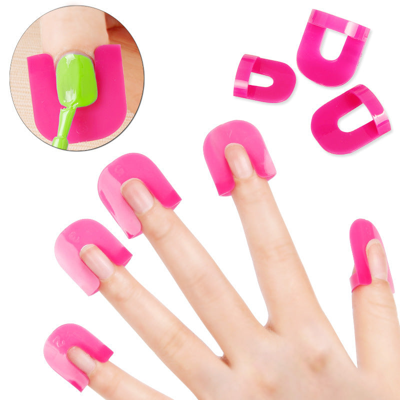 Nail Polish Edge Anti-Flooding Plastic Template Clip Manicure Tools Set - 26 Pieces