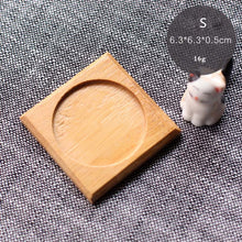 Bamboo Round Square Bowls Plates for Succulents Pots Trays Base Garden Decor Home Decoration Crafts