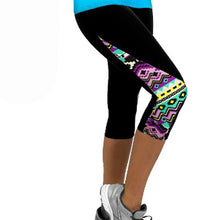 Women's Summer Mid-Calf Printed Leggings