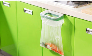 Solid Hanging Kitchen Garbage Bag Holder Cabinet - Trash Rack Style for Garbage Storage