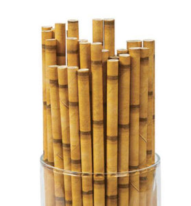 100 /200/ 300 Tiki Paper Straws,Bamboo Straws,Luau Theme Party,Tree Theme, Forest Theme Party