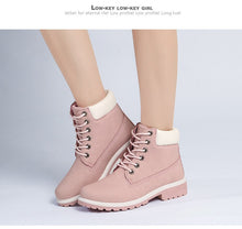 Women's Fashion Plush Wedges Knee High Slip-Resistant Thermal Cotton-Padded Warm Snow Boots