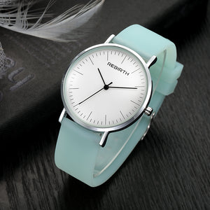 Women's Luxury Fashion Casual Top Brand Silicone Strap Ladies Quartz Wristwatch