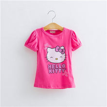Baby Girls Tshirt Girl Summer Short-Sleeved Casual T-shirts For Kids Children's Cotton Tops Girl's Summer Tee 2018 10C
