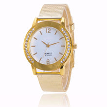 Women's Fashion Casual Luxury Crystal Gold Stainless Steel Analog Quartz Wristwatch Relogio Clock