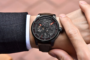 Men's Fashion Luxury Brand Pagani Leather Tourbillon Automatic Wristwatch Relogio Masculino