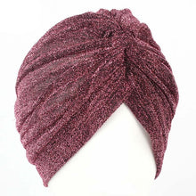 Women Bling Silver Gold Knot Twist Turban Headbands Cap - Autumn Winter Warm Casual Streetwear Headwear Hats