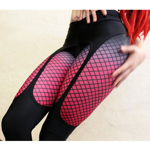 Women's Sexy Printed Fitness Booty Push Up Garter Pattern Sports Leggings