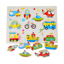 Hand Grasp Knob Pegged Puzzle  Wooden Quality Numbers Animals Fruits Vegetable  Characters Letter Cognitive Board Children Toys
