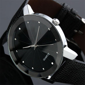 Men's Relojes Hombre Attractive Luxury Sport Military Stainless Steel Dial Leather Band Quartz Wristwatch