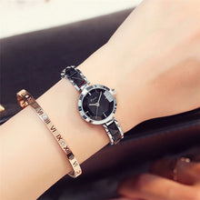 Women's NEW Brand Imitation Ceramic Gold Luxury Quartz Wristwatches