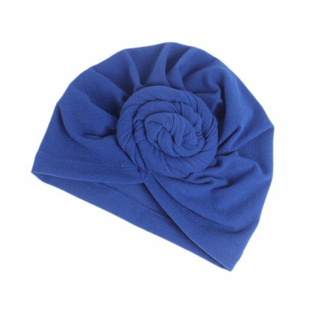 Women's Ladies Winter Boho Cancer Hat Beanie Scarf Turban Head Wrap Cap Elastic Cotton Solid Bonnets Hats