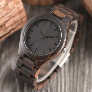 Men's Creative Handmade Bamboo Wooden Quartz Wristwatch
