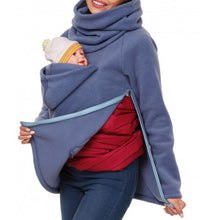 Gracious Women Maternity Kangaroo Hooded Baby Carriers Sweatshirts Hoodies Jacket Coat