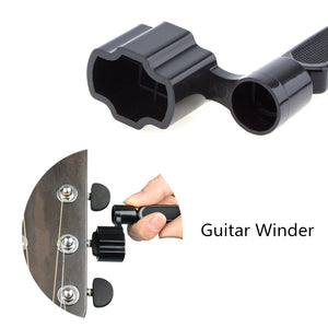Multifunction Guitar Accessories 3 in 1 Guitar Peg String Winder + String Pin Puller + String Cutter Guitar Tool Set