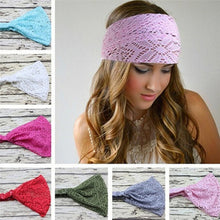 Hot Sale Women's Fashion Stretchy Wide Lace Headband - Turban Head Bandanas Hairband - 1 Piece