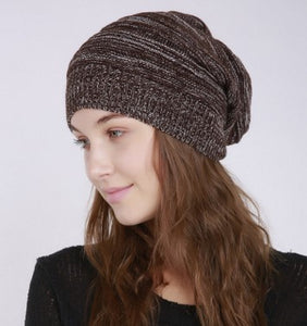 Women's Autumn and Winter Fashion Knitting Wool Outdoor Warm Comfortable Casual Bonnet Femme Hat