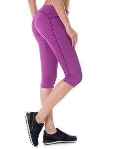 Women's Knee Tight Fit Yoga Running Workout Sports Capri Leggings Pants