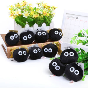 Unisex My Neighbor Totoro Fairydust Plush Toy Doll with Ring Soft Stuffed Doll 10pcs/lot Age 2-4 Years