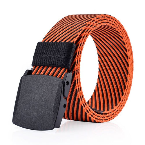 Unisex High Quality  Military Nylon Resin Buckle Outdoor Tactics Twill Belt Canvas