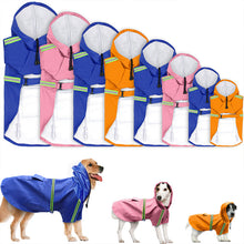 Pet's Reflective Strip Waterproof Dog Hooded Raincoat S-5XL