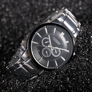 Men's Luxury Brand Fashion Business Casual Full Steel Quartz Watch Relogios Masculinos