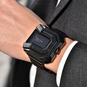 Men's New Design Luxury Brand Reloj Hombre Waterproof Leather Sports Quartz Watches Relogio Masculino