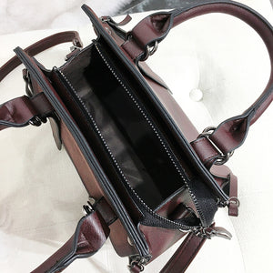 Women's New Casual Vintage High Quality Leather Top-Handle Handbag