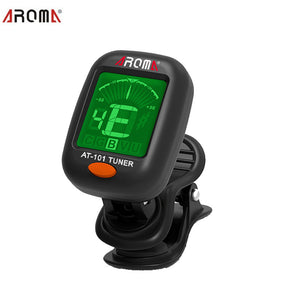 AROMA AT101 360  Mini LCD Clip Tuner Chromatic Clip-On Digital Tuner For Acoustic Electric Guitar Bass Violin Ukulele