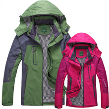 Women's Spring Autumn Winter Single Thick Hooded Wind Waterproof Outwear Jackets