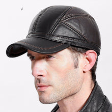 Men's Winter Baseball Leather Warm Hats Casquette Men Snapback Dad Hat Adjustable Hip Hop Caps Bone Gorras