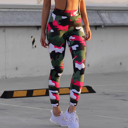 Women's Workout Fitness Camouflage 3 Styles Printed Sporting Leggings