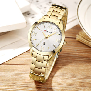 Women's Top Brand Luxury Rose Gold Quartz Wristwatch Relogio Feminino