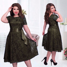 Women's Summer Elegant Sexy European Style Flare Empire Party Midi Dresses