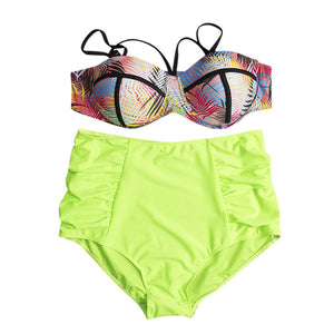 Women's Hot New Print Super Big Size Bikinis Plus Size Sexy Bikini Sets Summer Beachwears Swimsuits Swimwears
