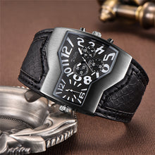 Men's Luxury Brand Two Time Zone Wide PU Strap 6 Colors Fashion Quartz Wristwatch Casual Man Hours