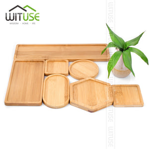 Boutique Simple Home Square Tray Bamboo Flower Pot Tray Flower Pot Bonsai Flower Pots Water Tray Gardening Accessories