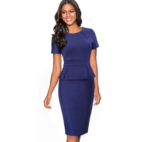 Women's Summer Elegant Formal Bodycon Slim Pencil Dress
